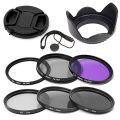 Elfenstall 10 teiliges Set Filterset UV CPL ND Filter Gegenlichtblende Halter 58mm...